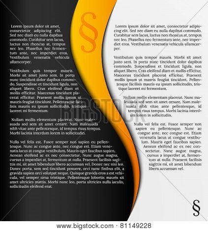 Infographics With Paragraph Symbol