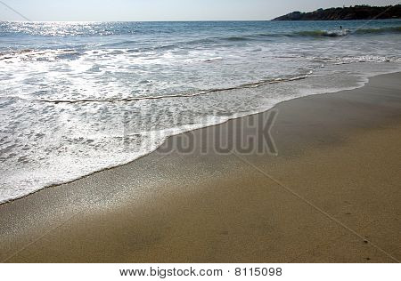 Reflection Of Sunlight On The Blue Water Of Puerto Escondido