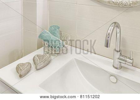 Part of Modern luxury bathroom