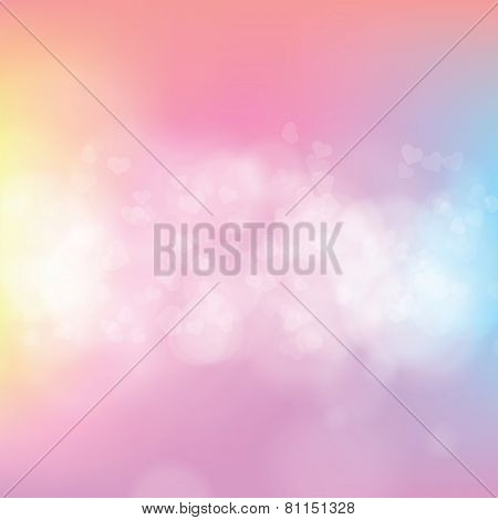 Abstract Spring Bokeh Background