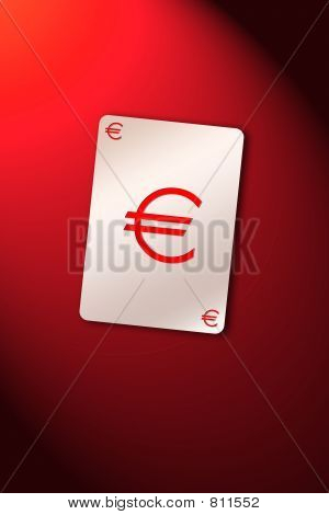 Playing card euro