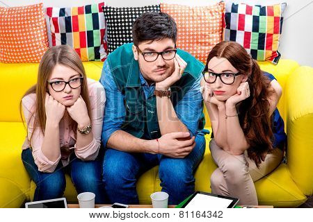 Three nerds on the couch