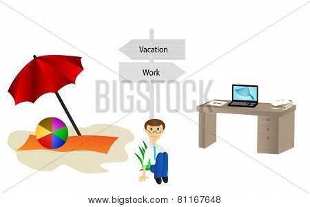 Vacation and work pointer