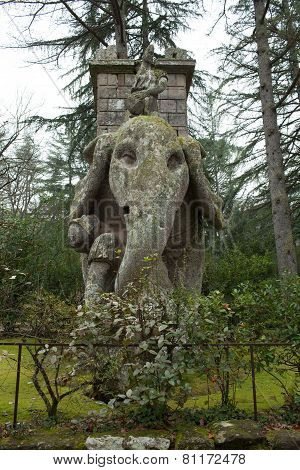 The Elephant Statue Bomarzo Italy