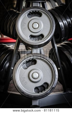 Barbell plates rack