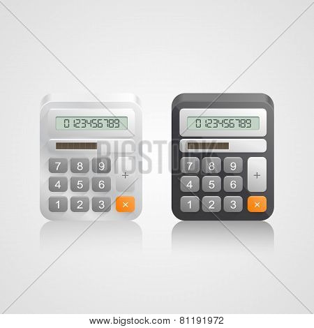Vector illustration calculator tool. Vector illustration art poster