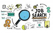 Job Search Qualification Searching Application Concept poster