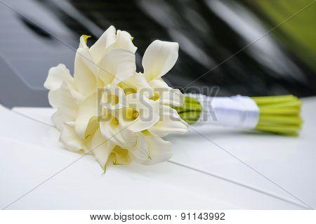 Bridal Bouquet Of White Calla
