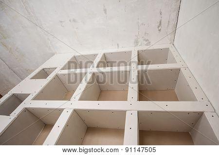 Construction Of Drywall-plasterboar D Interior Room