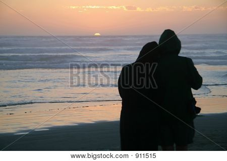Loving Couple Silhouette