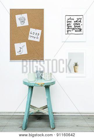 Hipster Scandinavian Design. Mood Board. Good Morning