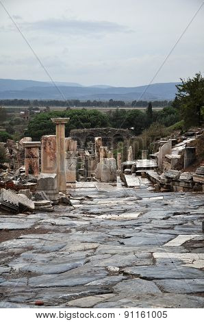 A view of Curetes Street