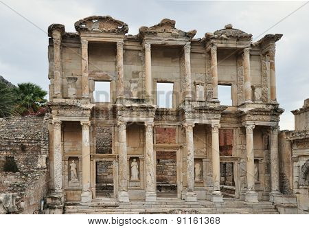 The famous Celsus Library at Ephesus