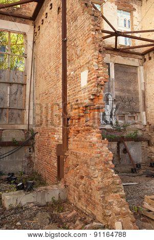 Collapsing Masonry Wall