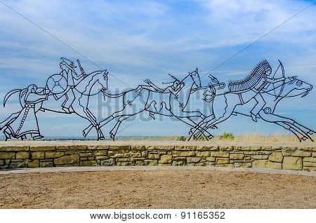 Little Bighorn Memorial Sculpture