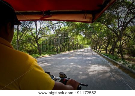 Rickshaw around Machalilla National Park, Ecuador