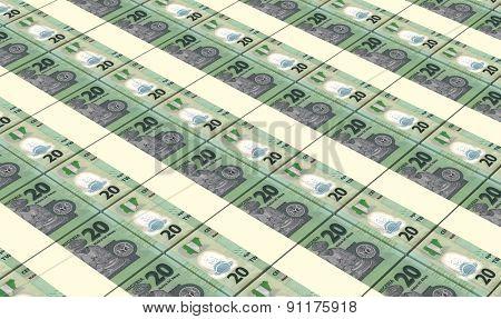 Nigerian nairas bills stacks background.