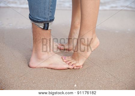 couple feet on the beach