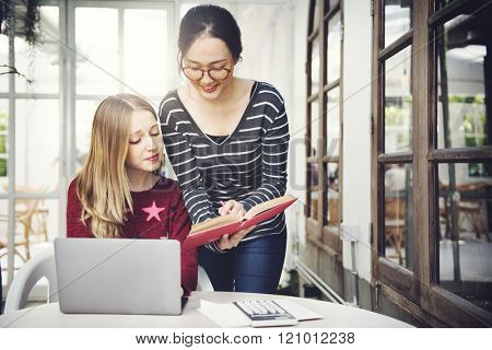 Digital Device Learning Studying Internet Casual Concept