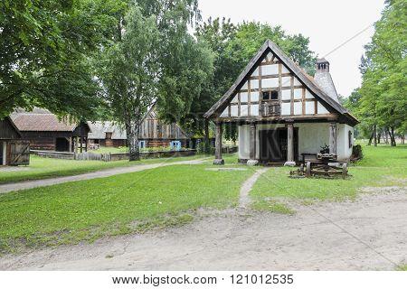 Historic smithy in the museum in Olsztynek, Poland