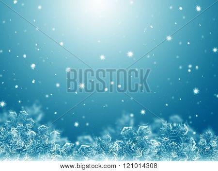 blue winter background
