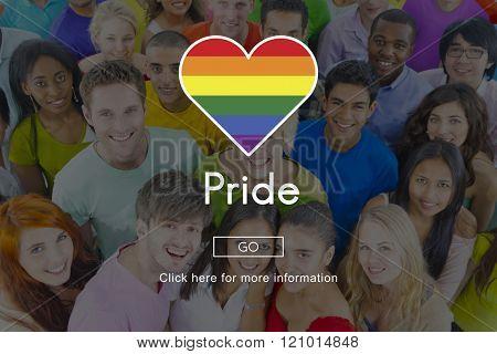 Pride Queer Gay Transgender Transexual Homosexual Concept