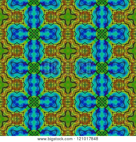 Abstract colorful decorative kaleidoscope seamless tile