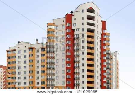 Modern multistory residential building