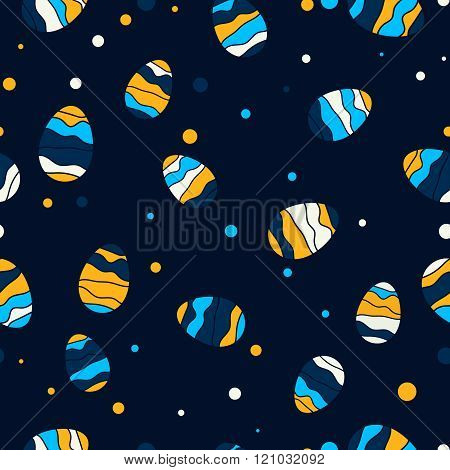 Easter Seamless Pattern With Eggs Easter Greeting Card Design
