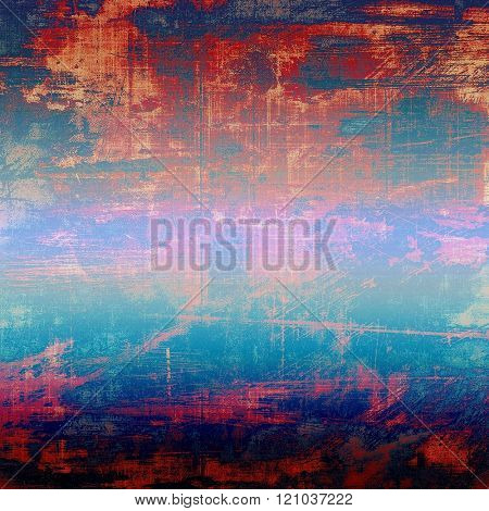 Vintage old texture with space for text or image, distressed grunge background. With different color patterns: blue; red (orange); purple (violet); pink