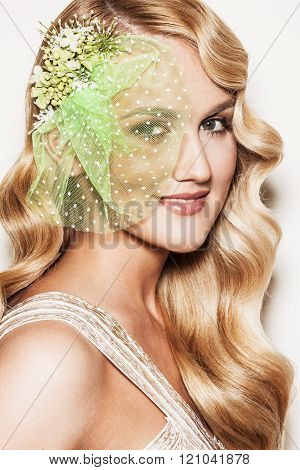 Beautiful bride with wedding makeup
