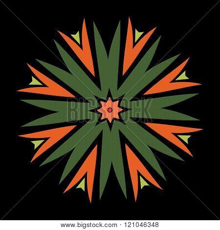 ethnic african Spanish ornaments
