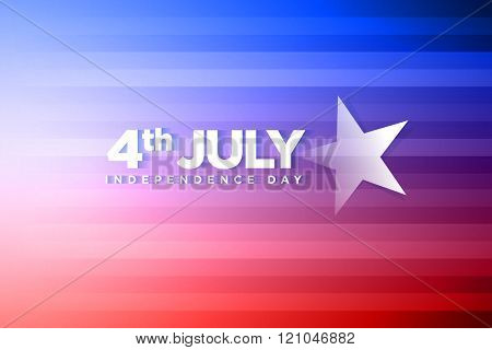 Vector banner for fourth of july independence day.