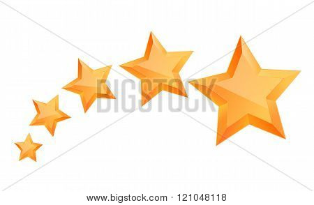 Five 3d gold stars premium. The best reward