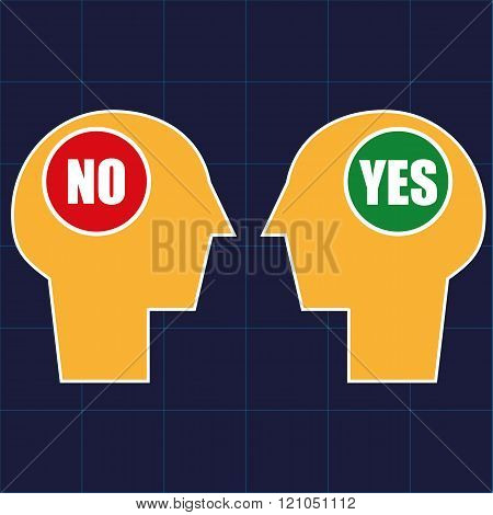 Negotiation or Decision Making Concept