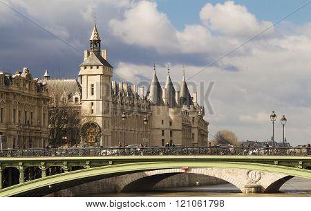 The Conciergerie Castle, Paris, France.