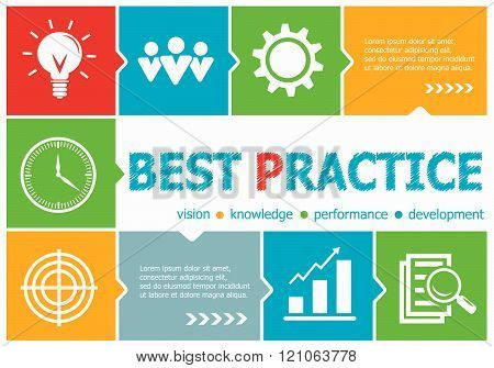 Best Practice Design Illustration Concepts For Business, Consulting, Management, Career.