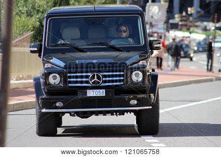 Black Suv Mercedes Amg G 65 In Monte-carlo, Monaco