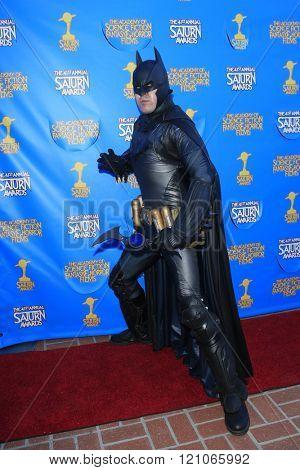 BURBANK - JUN 25: Cosplayer, Batman at the 41st Annual Saturn Awards at The Castaway on June 25, 2015 in Burbank, California,