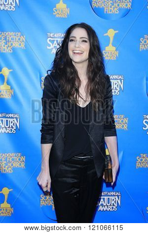 BURBANK - JUN 25: Janet Montgomery at the 41st Annual Saturn Awards at The Castaway on June 25, 2015 in Burbank, California,