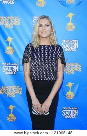 BURBANK - JUN 25: Eliza Taylor at the 41st Annual Saturn Awards at The Castaway on June 25, 2015 in Burbank, California,