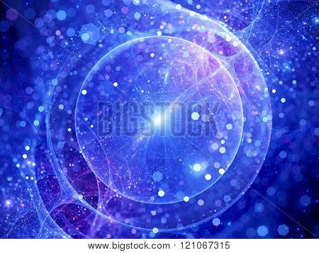 Gravitational wave source sci-fi background