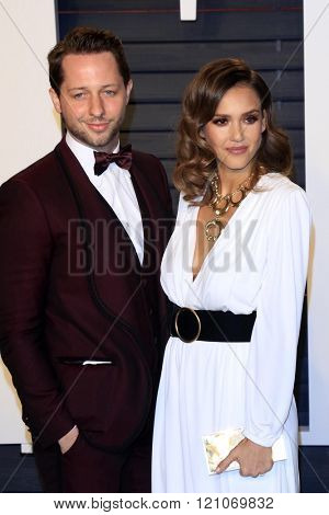 LOS ANGELES - MAR 3:  Derek Blasberg, Jessica Alba at the Bosch Season 2 Premiere Screening at the Silver Screen Theater at the Pacific Design Center on March 3, 2016 in West Hollywood, CA