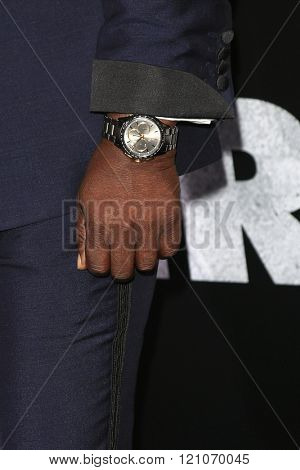 LOS ANGELES - MAR 3: David Harewood, watch, at the Premiere of 'The Brothers Grimsby' at the Regency Village Theater on March 3, 2016 in Los Angeles, California