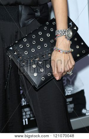 LOS ANGELES - MAR 3: Joyce Giraud, watch, bracelet, clutch at the Premiere of 'The Brothers Grimsby' at the Regency Village Theater on March 3, 2016 in Los Angeles, California