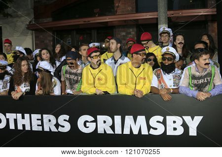 LOS ANGELES - MAR 3:  General Atmosphere at the The Brothers Grimsby Premiere at the Regency Village Theater on March 3, 2016 in Westwood, CA