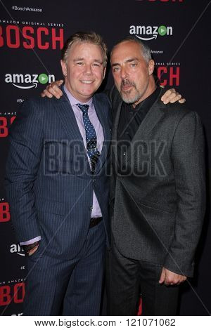LOS ANGELES - MAR 3:  Spencer Garrett, Titus Welliver at the Bosch Season 2 Premiere Screening at the Silver Screen Theater at the Pacific Design Center on March 3, 2016 in West Hollywood, CA