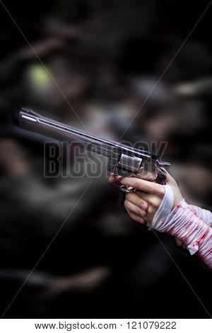 Gun in the street