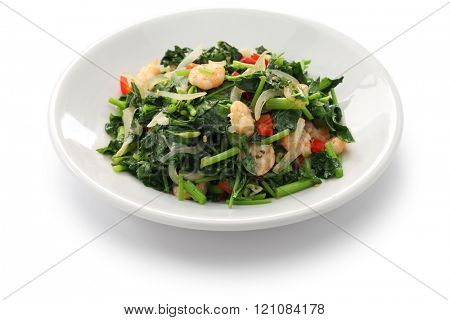 callaloo, jamaican cuisine isolated on white background