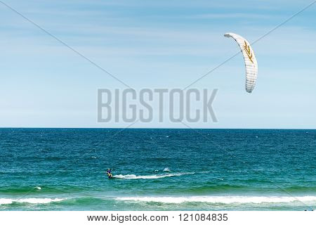 Unidentified Kite Surfer